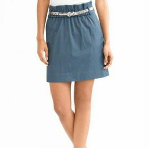Banana Republic Teal Paper Bag Elastic Waist Skirt
